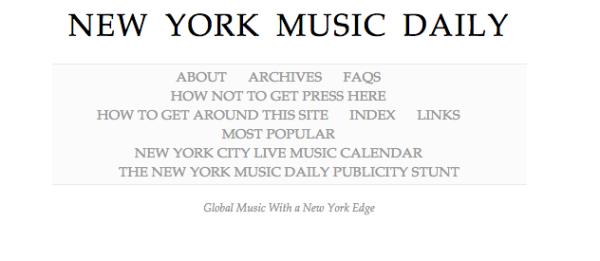 New York Music Daily
