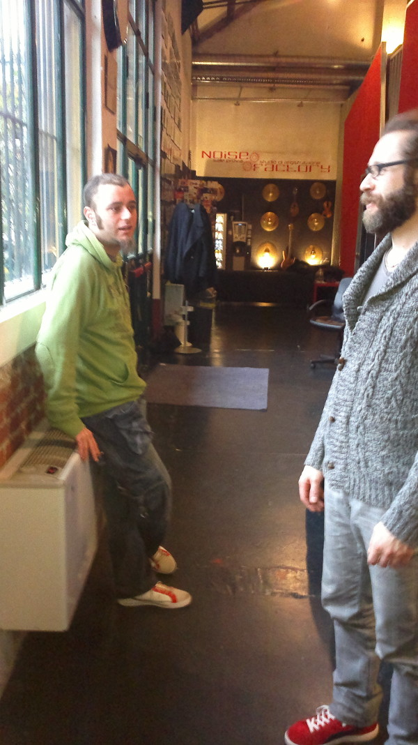 Cri and Iasko at the Noise Factory Studio